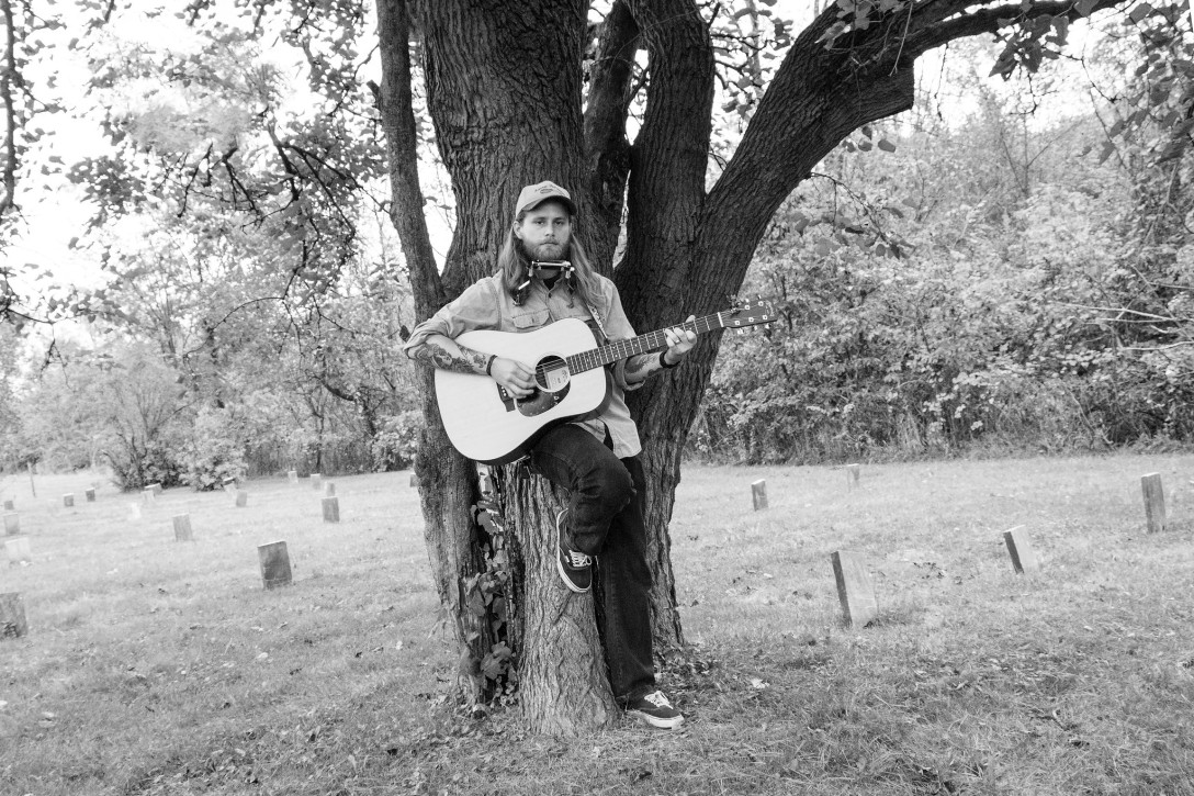 A.S. Coomer in the graveyard, photo by Michelle Elson, Lunatic Owl Imaging