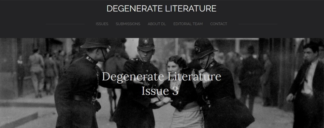 Degenerate Literature Issue 3 header