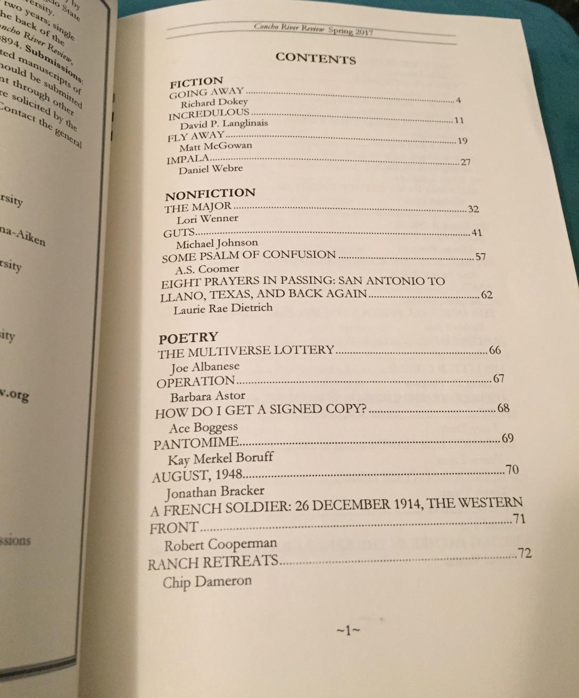CRR Vol 31, No 1 TOC