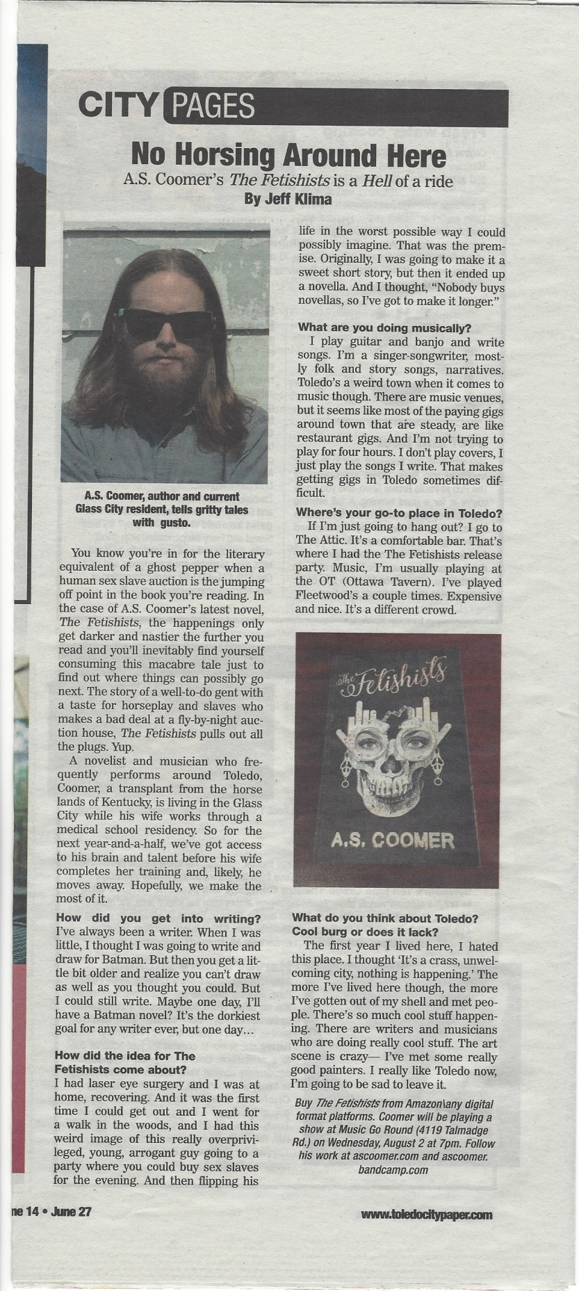 The Fetishists review in the Toledo City Paper.jpg